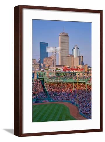 Boston Skyline with view of Historic Fenway Park, Boston Red Sox, Boston, Ma., USA, May 20, 2010...--Framed Art Print