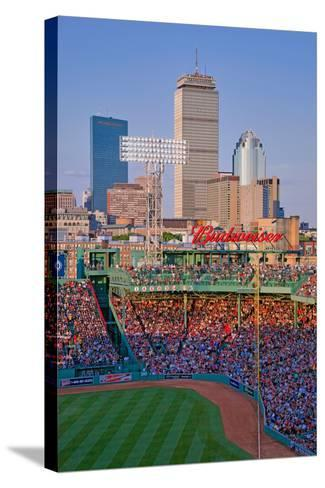 Boston Skyline with view of Historic Fenway Park, Boston Red Sox, Boston, Ma., USA, May 20, 2010...--Stretched Canvas Print