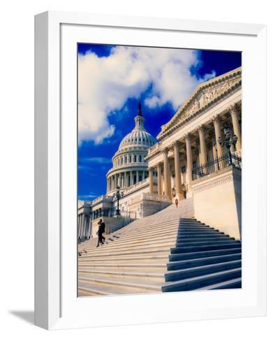Steps to Senate Chambers at US Capitol Building, Washington DC, USA--Framed Art Print