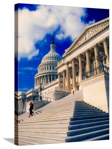 Steps to Senate Chambers at US Capitol Building, Washington DC, USA--Stretched Canvas Print