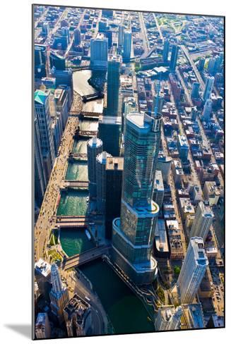 Aerial view of Trump Tower, Chicago River, Chicago, Illinois, USA--Mounted Photographic Print