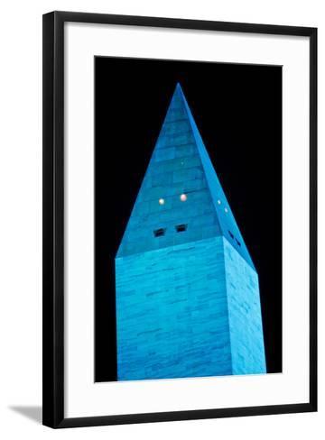 Washington Monument at night, Washington DC, USA--Framed Art Print