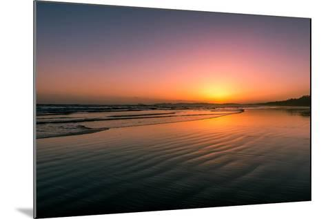 Waves rolling into Long Beach at sunset, Pacific Rim National Park Reserve, Vancouver Island, Br...--Mounted Photographic Print
