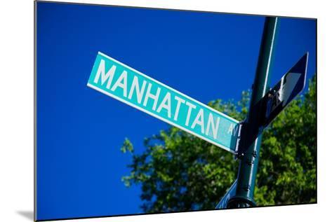 Close up of street sign reads Manhattan Boulevard, New York City, New York--Mounted Photographic Print