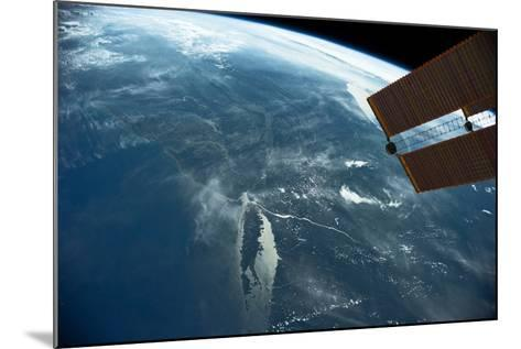 View of planet Earth from space showing East coast and Massachusetts, USA--Mounted Photographic Print