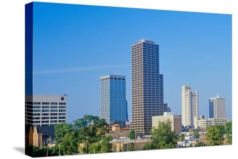 State capital and skyline in Little Rock, Arkansas--Stretched Canvas Print