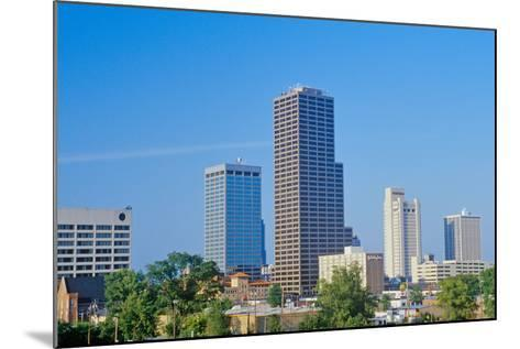 State capital and skyline in Little Rock, Arkansas--Mounted Photographic Print