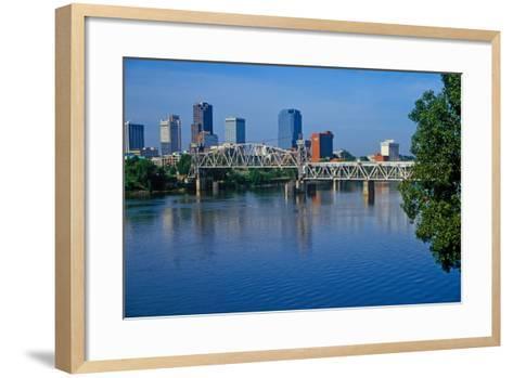 Arkansas River view from North Little Rock, Little Rock, Arkansas--Framed Art Print