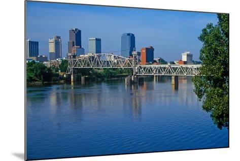Arkansas River view from North Little Rock, Little Rock, Arkansas--Mounted Photographic Print
