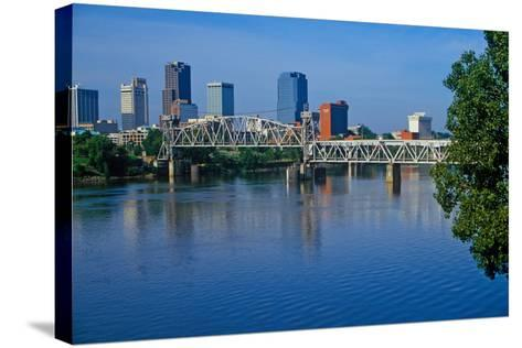 Arkansas River view from North Little Rock, Little Rock, Arkansas--Stretched Canvas Print
