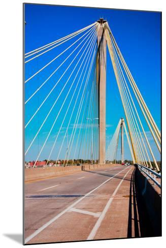 The Clark Bridge, also known as Cook Bridge, at Alton, Illinois, a Cable bridge carries U.S. Rou...--Mounted Photographic Print