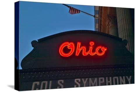Ohio Theater marquee theater sign advertising Columbus Symphony Orchestra in downtown Columbus, OH--Stretched Canvas Print