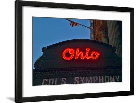 Ohio Theater marquee theater sign advertising Columbus Symphony Orchestra in downtown Columbus, OH--Framed Art Print