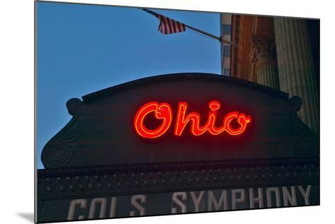 Ohio Theater marquee theater sign advertising Columbus Symphony Orchestra in downtown Columbus, OH--Mounted Photographic Print