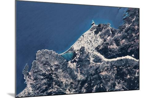 Satellite view of coastal town in Africa--Mounted Photographic Print