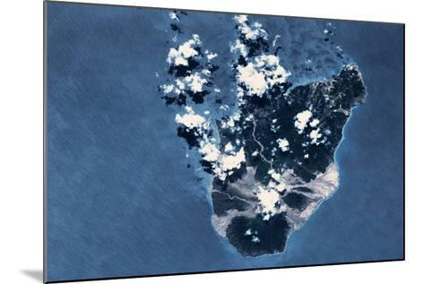 Satellite view of Montserrat Island, British Overseas Territory--Mounted Photographic Print