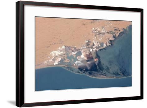 Satellite view of Bardawil Lake, North Sinai Governorate, Egypt--Framed Art Print