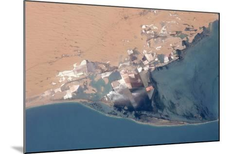 Satellite view of Bardawil Lake, North Sinai Governorate, Egypt--Mounted Photographic Print