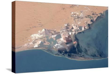 Satellite view of Bardawil Lake, North Sinai Governorate, Egypt--Stretched Canvas Print