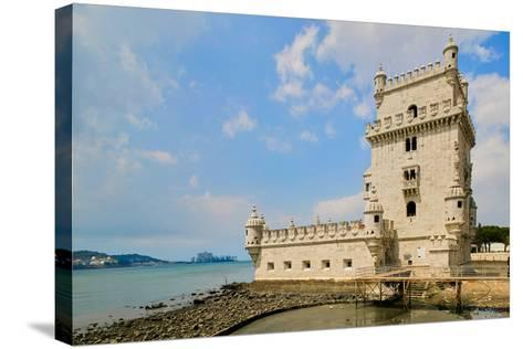 The Belem Tower, a UNESCO World Heritage Site, in Lisbon/Lisboa Portugal--Stretched Canvas Print