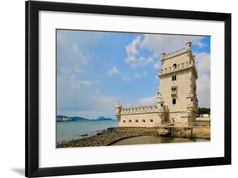 The Belem Tower, a UNESCO World Heritage Site, in Lisbon/Lisboa Portugal--Framed Art Print