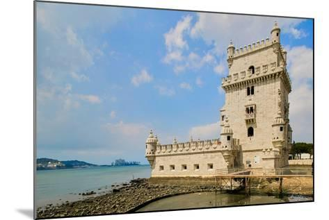 The Belem Tower, a UNESCO World Heritage Site, in Lisbon/Lisboa Portugal--Mounted Photographic Print