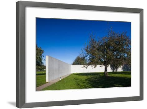 Conference Pavilion design by Tadao Ando, Vitra Design Museum, Weil am Rhein, Baden-Wurttemberg...--Framed Art Print