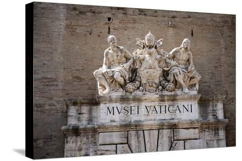 The Vatican Museums, Musei Vaticani, are the public art and sculpture museums in the Vatican Cit...--Stretched Canvas Print