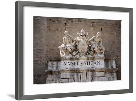 The Vatican Museums, Musei Vaticani, are the public art and sculpture museums in the Vatican Cit...--Framed Art Print