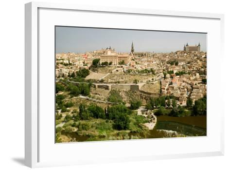 View overlooking the Tagus River and Toledo, Spain--Framed Art Print