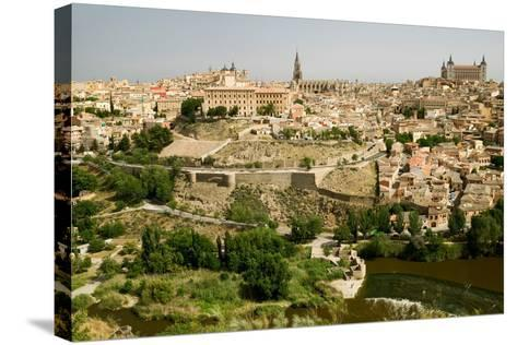View overlooking the Tagus River and Toledo, Spain--Stretched Canvas Print