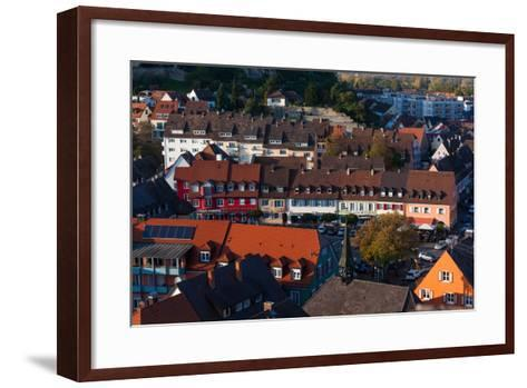Elevated view of town, Breisach, Black Forest, Baden-Wurttemberg, Germany--Framed Art Print