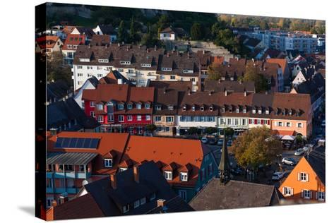 Elevated view of town, Breisach, Black Forest, Baden-Wurttemberg, Germany--Stretched Canvas Print