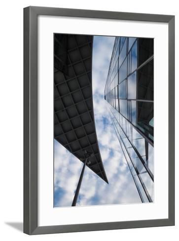 Low angle view of the Deutsche Post Tower, Bonn, North Rhine-Westphalia, Germany--Framed Art Print