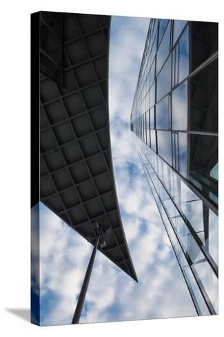 Low angle view of the Deutsche Post Tower, Bonn, North Rhine-Westphalia, Germany--Stretched Canvas Print