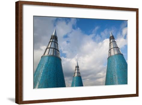 Rooftop towers at museum of technology and art, Bundeskunsthalle, Museumsmeile, Bonn, North Rhin...--Framed Art Print