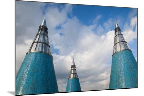 Rooftop towers at museum of technology and art, Bundeskunsthalle, Museumsmeile, Bonn, North Rhin...--Mounted Photographic Print