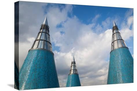 Rooftop towers at museum of technology and art, Bundeskunsthalle, Museumsmeile, Bonn, North Rhin...--Stretched Canvas Print