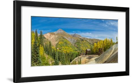 Remains of Silver Mining in Red Mountain Mining District along U.S. Route 550, Colorado, USA--Framed Art Print