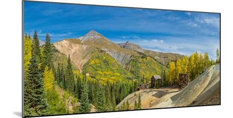 Remains of Silver Mining in Red Mountain Mining District along U.S. Route 550, Colorado, USA--Mounted Photographic Print