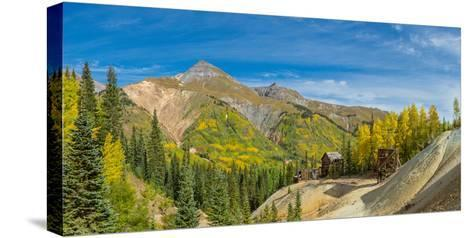 Remains of Silver Mining in Red Mountain Mining District along U.S. Route 550, Colorado, USA--Stretched Canvas Print