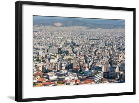 Athens, Attica, Greece. View over Athens from the Acropolis.--Framed Art Print