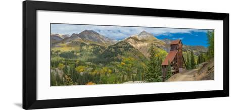 Yankee Girl Silver Mine in Red Mountain Mining District along U.S. Route 550, Colorado, USA--Framed Art Print