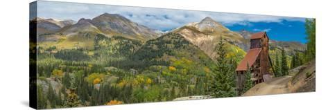 Yankee Girl Silver Mine in Red Mountain Mining District along U.S. Route 550, Colorado, USA--Stretched Canvas Print