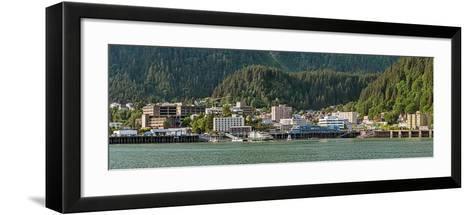 Juneau city at waterfront, Southeast Alaska, Alaska, USA--Framed Art Print