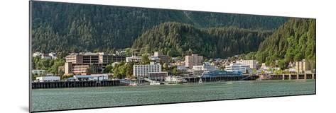 Juneau city at waterfront, Southeast Alaska, Alaska, USA--Mounted Photographic Print