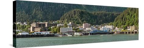 Juneau city at waterfront, Southeast Alaska, Alaska, USA--Stretched Canvas Print