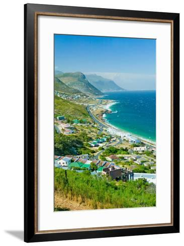 Elevated scenic views on the way to Cape Point, Cape of Good Hope, outside of Cape Town, South A...--Framed Art Print