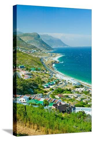 Elevated scenic views on the way to Cape Point, Cape of Good Hope, outside of Cape Town, South A...--Stretched Canvas Print