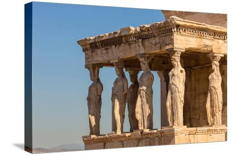 Athens, Attica, Greece. Porch of the Caryatids on the south end of the Erechtheion on the Acropo...--Stretched Canvas Print